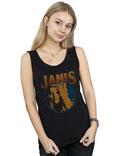 Sin Mangas Camiseta Circle Distressed Negro Joplin Mujer Janis nwqzPI