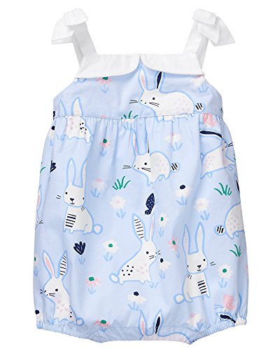 Gymboree Baby Girls All Over Bunny Bubble Onesie, Spring Blue, 12-18 Mo
