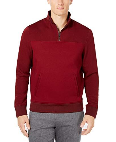 [해외]라이언 시 크레스트 남성 대형 인터록 쿼터 지퍼 스웨터 / Ryan Seacrest Mens Large Interlock Quarter Zip Sweater
