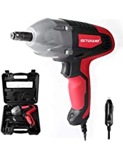 """GETUHAND Electric Impact Wrench 1/2 Inch & 12 Volt 400N.M 300ft-lbs Max Torque with 1/2"""" Strong Square Drive, Portable Car Impact Wrench Kit with Sockets and Carry Case"""