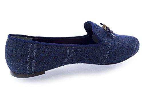 Tory Burch Chandra Loafer Shoes TB Logo Bright Navy Dwr6eRA