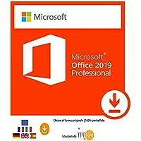 MS Office 2019 Professional Plus 32 bit e 64 bit - Chiave di Licenza Originale per Posta e E-Mail + Guida di TPFNet® - Spedizione max. 60min