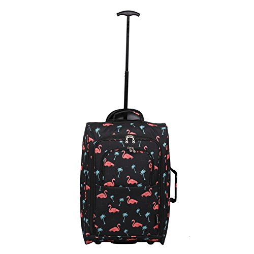 Luggage Cities Cabin Black Black Black Flamingos Trolley Bag 55cm On Carry Lightweight Hand Approved 5 Watermelon 21