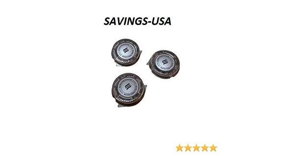 Cabezales de repuesto para PHILIPS HQ8 Sensotec Spectra (lote de 3) utilizar con afeitadora Philips: Serie 7100, 7200 Serie, Serie 8400 – 8800, cabezales de afeitado ...