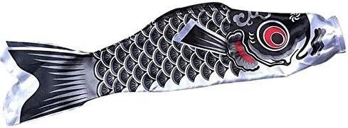 こいのぼり防水日本の鯉吹き流しストリーマーは、カラフルな魚の旗インテリアカイトこいのぼりハンギング GBYGDQ (Color : Blue)
