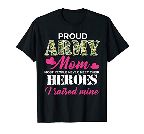 (Womens Proud Army Mom - Hero Army T-shirt)