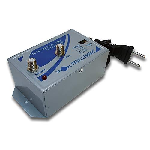 Amplificador de Linha Vhf/Uhf 25 Db Proeletronic PQAL-2500