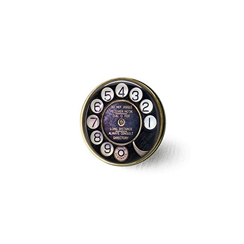 Old Telephone Dial - Nostalgic Jewelry - Telephone Dial Brooch - Telephone Brooch - Payphone - Old Technology