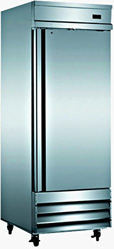 29'' Freezer Single Solid Steel Door Reach-in Commercial Grade Restaurant - 23 Cu. Ft. - Auto Defrost - Digital Control - Adjustable Shelves - Stainless Steel by SDS