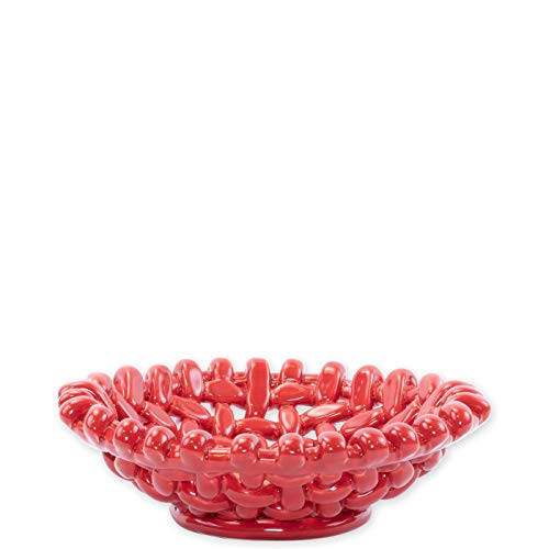 Vietri Woven Baskets Red Small Basket