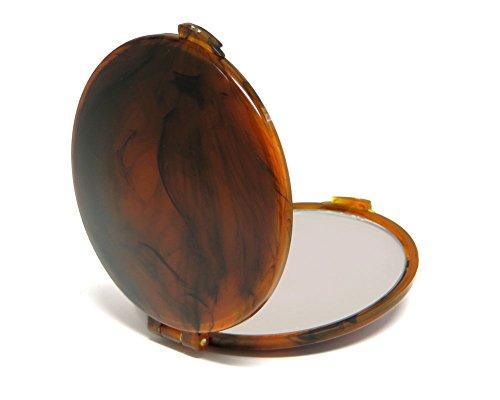 Speert #7200 Personal Tortoise Pocket Purse Mirror Great On the Go Make-Up Mirror 7x
