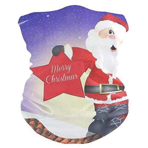 Christmas SantaBalaclava Womens Headband Scarf Mens Bandana,Muffler,Neck Gaiter,Magic,Headwrap Helmet Liner