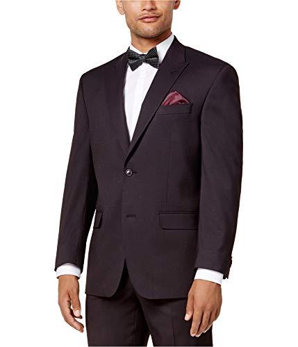 (Sean John Men?s Classic-Fit Stretch Tic Peak Lapel Suit Jacket (Burgundy,)