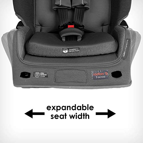 41a6VVcgRZL - Diono Radian 3QXT 4-in-1 Rear And Forward Facing Convertible Car Seat, Safe Plus Engineering, 4 Stage Infant Protection, 10 Years 1 Car Seat, Slim Design - Fits 3 Across, Gray Slate