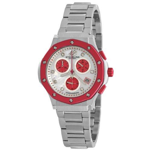 Stuhrling Original Women's 180.121147 Ladies Lifestyles Nemo Chronograph Quartz Swarovski Crystals Date Stainless Steel Watch -