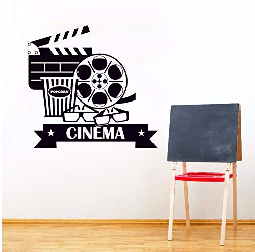 Dalxsh Cinema Wall Stickers Removable Vinyl Movie House Wall Decal Popcorn Cinematography Decoration Cinema Destign Wall Poster 42x40cm ()