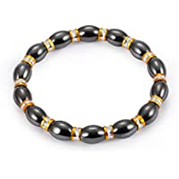 1Pcs Weight Loss Stone Magnetic Therapy Slimming Bracelets Health Care Magnetic Hematite Stretch Beaded Bracelets for…