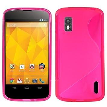 LG Nexus 4/E960 Carcasa Funda TPU Magenta S Line: Amazon.es ...