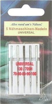 Nähmaschinennadeln Nähmaschinen-Nadeln Jeans 130//705 H  80-90-90-90-100