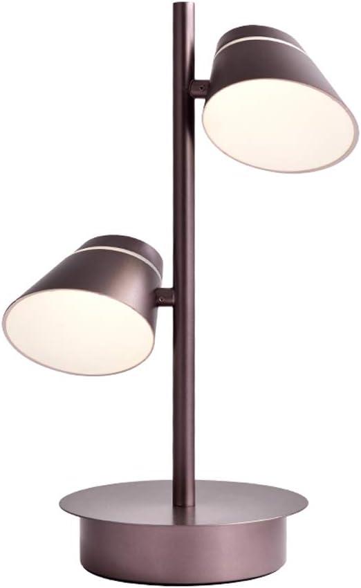 LIZHIQIANG Lámpara De Mesa, Lámpara De Mesa Giratoria De Doble ...