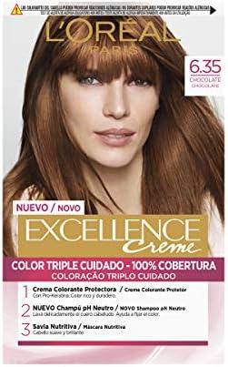 LÓreal Paris Excellence Creme 6.35 Chocolate - 1 Coloración ...