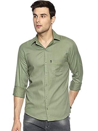 LEVIZO Men's Regular Fit Casual Solid Shirts