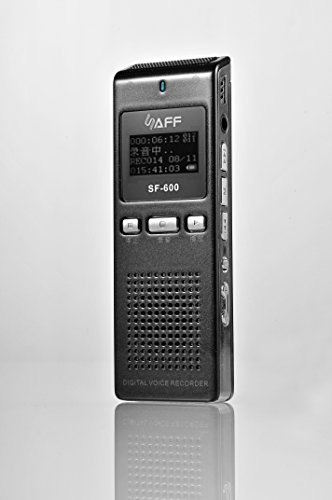 AGPTek RP11 8GB Digitale Diktiergeräte mit Bildschirm Digitalrecorder Recorder mit 2 Eingebauten Lautsprecher, Schwarz