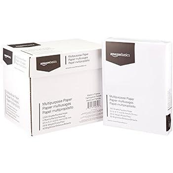 AmazonBasics 92 Bright Multipurpose Copy Paper - 8.5 x 11 Inches, 5 Ream Case (2,500 Sheets)