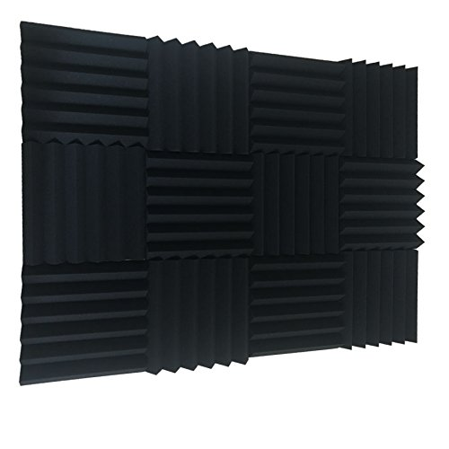 12 Pack Acoustic Wedge Studio Foam Sound Absorption Wall Panels 2'' x 12'' x 12'' by XIN&LOG (Image #2)