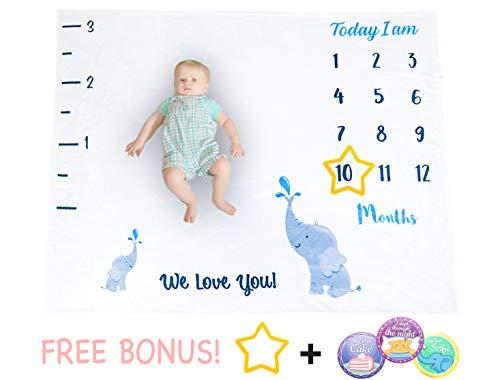 - Infant.ly - Monthly Baby Milestone Fleece Blanket (48