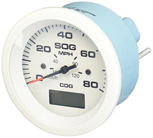 Sierra International 781-683-080P Scratch Resistant Arctic Gauge 80 MPH GPS Speedometer, 3