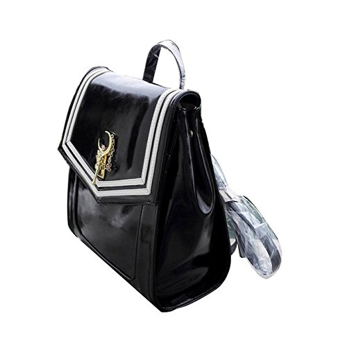 Ehdching Anime Sailor Moon Tsukino Usagi Backpack Cosplay Schoolbag (Black)