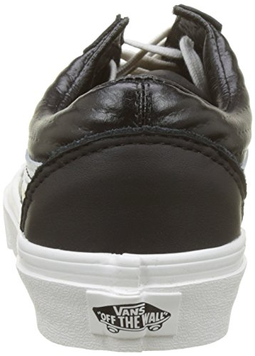 Vans Blanc Women's Trainers De Blanc black Leather Old Skool Black moto xAxawgTq