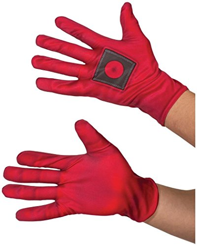 The Best Deadpool Costume - Rubie's Costume Co. Men's Deadpool Costume Gloves, Red, One Size