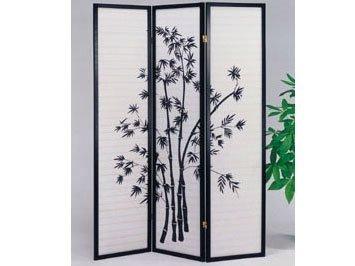 Legacy Decor 3-panel Bamboo Design Room Divider