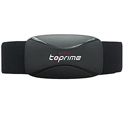 Toprime Heart Rate Monitor Sensor 2107 Real-time Receiver For Android and iOS Device,Black