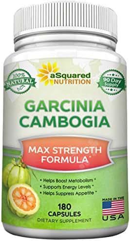Pure Garcinia Cambogia Extract - 180 Capsule Pills, Natural Garcinia Supplement, Ultra High Strength HCA, Max XT Premium Detox Tablet for Men & Women