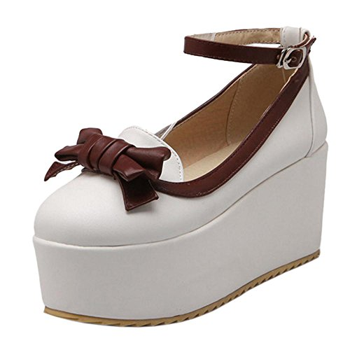 Blanco Thick Sole Women Zapatos Coolcept Court q58XZOw