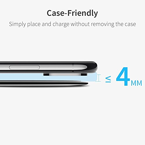 Wireless Charger, ESR Ultra-Slim Premium Qi Wireless Charging Pad iPhone X/iPhone 8/8 Plus, Metal Frame Fast-Charging The Samsung Galaxy S9/S9 Plus/S8/Note 8/S7/S7 Edge (No AC Adapter) by ESR (Image #5)