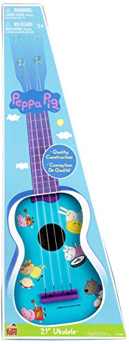 Peppa Pig Kids Musical 21 Inch Educational Ukulele (Pig Line Art)