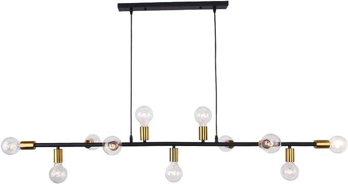 VINLUZ Industrial Pendant Lighting Black 3 Light Kitchen Island Chandeliers Modern with Clear Glass Shade, Foyer Farmhouse Lighting Fixture Ceiling