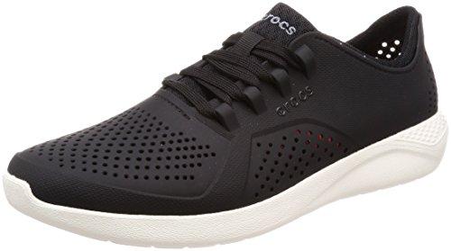 Tênis, Crocs, Literide Pacer, Masculino, Black/white, 38