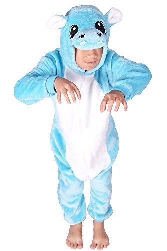Child Catcher Costume Uk (FashionFits Kid's Unisex Hippo Jumpsuit Pyjamas Flannel Pajamas Animal Cosplays 85)