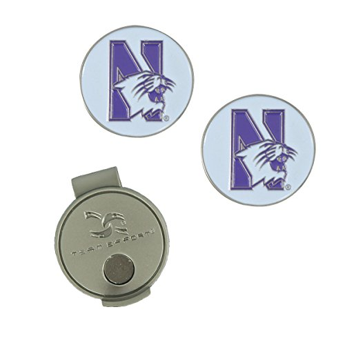 (Team Effort Northwestern Wildcats Hat Clip & 2 Ball Markers)