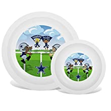 Baby Fanatic NFL Legacy Infant Plate & Bowl Set, Dallas Cowboys, for Ages 6 Months & Up