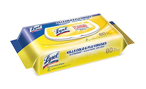 Lysol Disinfecting Handi-Pack Wipes, Lemon and Lime Blossom, 480 Count