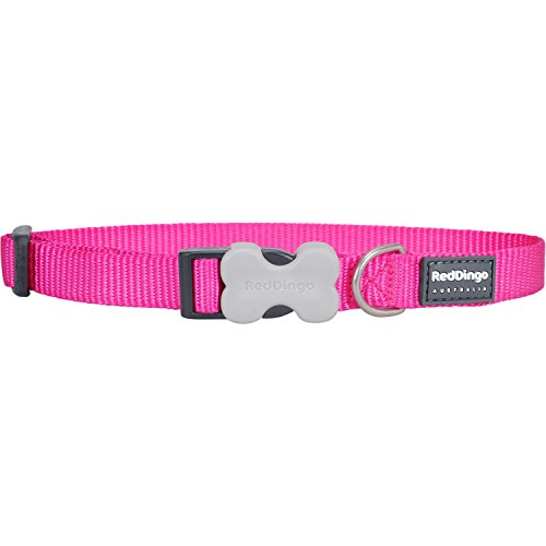 Red Dingo Classic Dog Collar, Small, Hot Pink