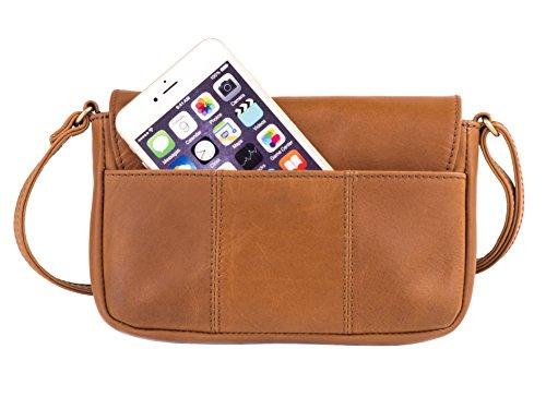 Geronimo Leather Tan Crossbody Small Leather Dwellbee Bag fwTBZ