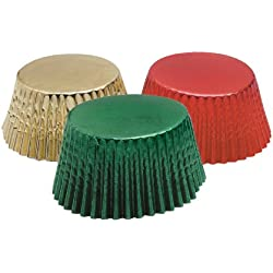 Fox Run 7102 Plain Edge Star Cutters (6 Piece Set), Red/Gold/Green