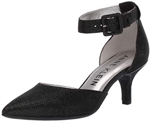 Anne Klein Women's Fabulist Ankle Strap Pump, Black, 5 M US
